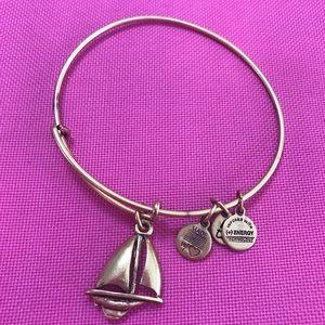 Alex and Ani bracelet gold sailboat